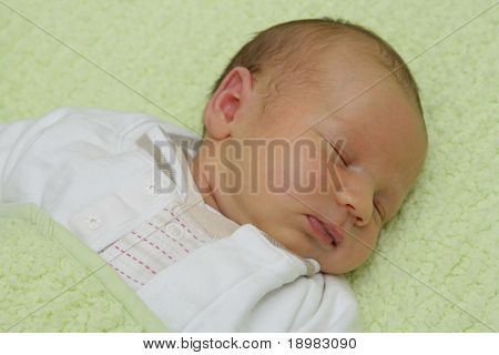 Newborn baby - 9 days old baby sleeping