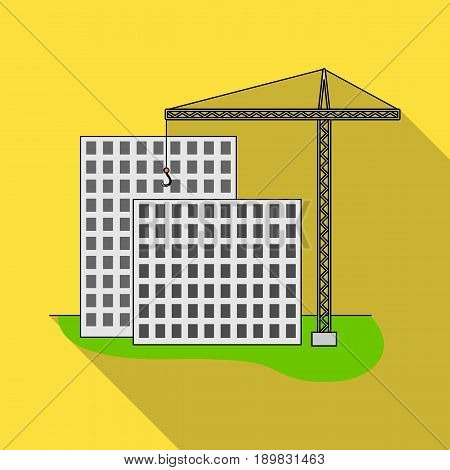 Construction of houses, real estate.Realtor single icon in flat style vector symbol stock illustration .