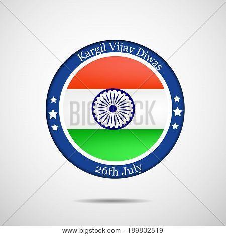 illustration of stamp on India flag background