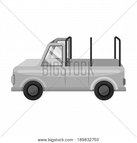 Machine for safari.African safari single icon in monochrome style vector symbol stock illustration .