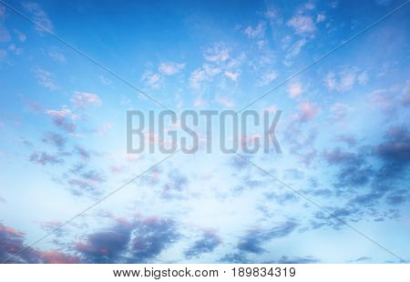 Blue sky only with a white clouds