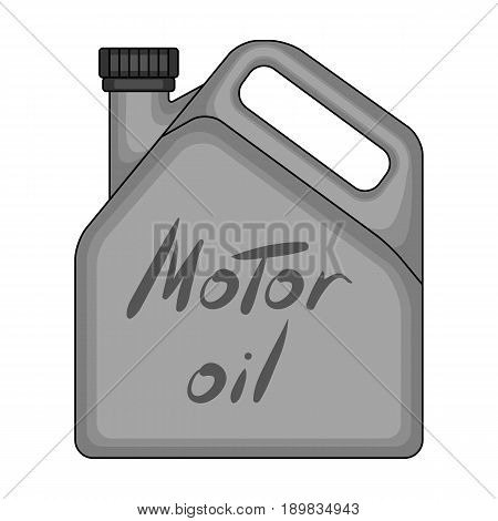 Can of engine oil.Car single icon in monochrome style vector symbol stock illustration .