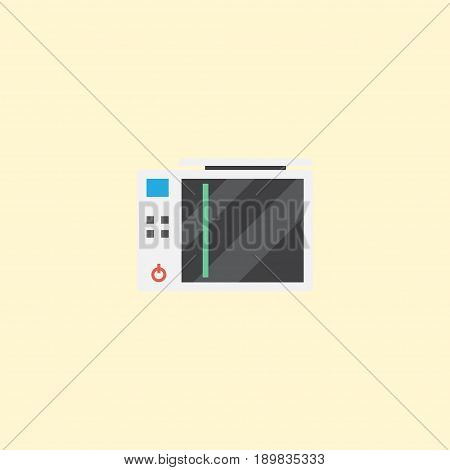 Flat Game Console Element. Vector Illustration Of Flat Slot Machine Isolated On Clean Background. Can Be Used As Machine, Game And Play Symbols.