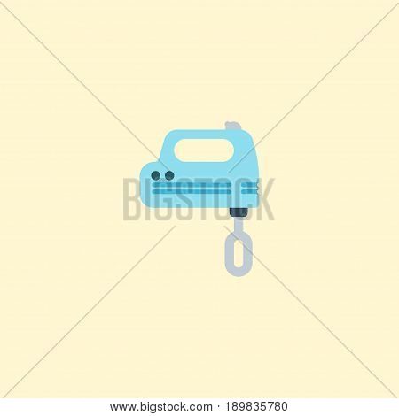 Flat Mixer Element. Vector Illustration Of Flat Blender Isolated On Clean Background. Can Be Used As Mixer, Blender And Beater Symbols.