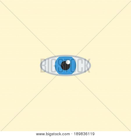 Flat Eye Element. Vector Illustration Of Flat Vision  Isolated On Clean Background. Can Be Used As Vision, Eye And Look Symbols.