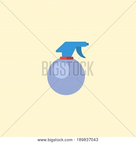 Flat Atomizer Element. Vector Illustration Of Flat Spray Bottle Isolated On Clean Background. Can Be Used As Atomizer, Spray And Bottle Symbols.