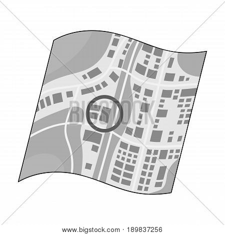 Location on the map.Realtor single icon in monochrome style vector symbol stock illustration .
