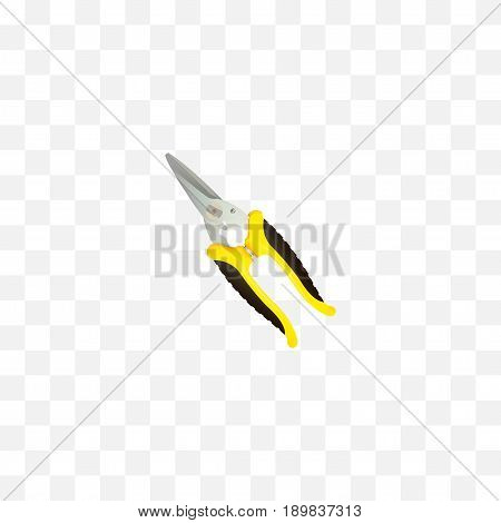 Realistic Shear Element. Vector Illustration Of Realistic Scissors Isolated On Clean Background. Can Be Used As Scissors, Shear And Clippers Symbols.