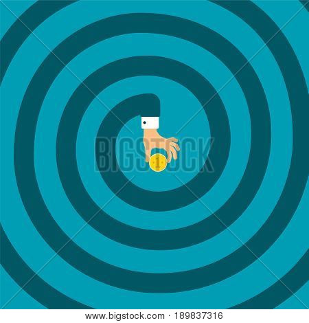 Difficult Way To Success Vector Concept In Flat Style
