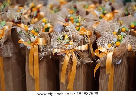 Decorated wedding favors gift for ceremony guest