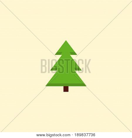 Flat Spruce Element. Vector Illustration Of Flat Tree Isolated On Clean Background. Can Be Used As Spruce, Tree And Nature Symbols.