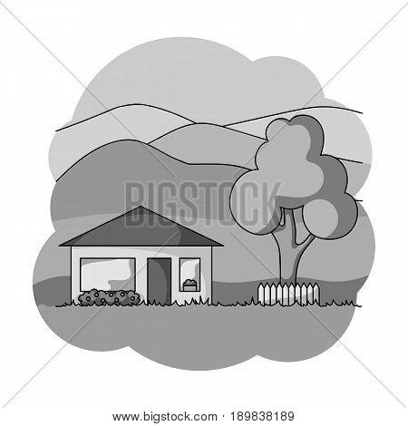 Vacation home.Realtor single icon in monochrome style vector symbol stock illustration .
