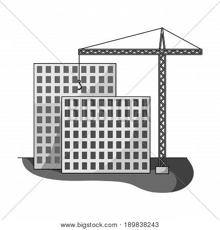 Construction of houses, real estate.Realtor single icon in monochrome style vector symbol stock illustration .