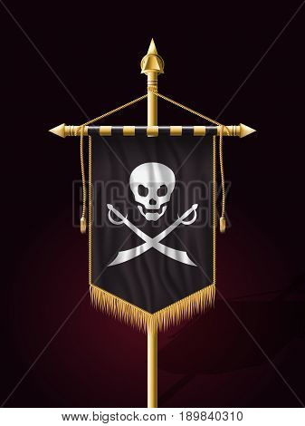 Jolly Roger. Jack Pirate Flag. Vector Format