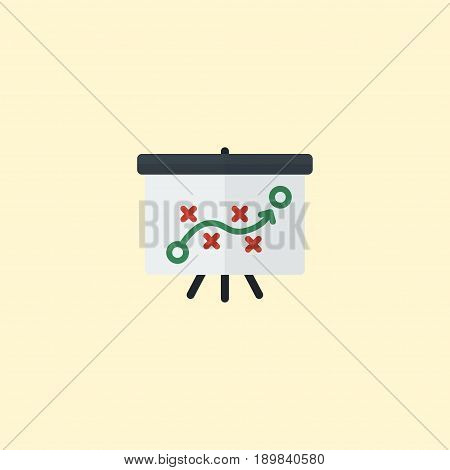 Flat Strategy Element. Vector Illustration Of Flat Tactics Isolated On Clean Background. Can Be Used As Tactics, Whiteboard And Strategy Symbols.
