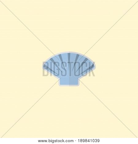 Flat Shell Element. Vector Illustration Of Flat Conch Isolated On Clean Background. Can Be Used As Conch, Shell And Sea Symbols.