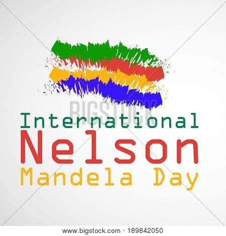 illustration of International Nelson Mandela Day Text with colorful design