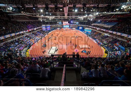 BELGRADE SERBIA - MARCH 3-5 2017 EUROPEAN ATHLETICS INDOOR CHAMPIONSHIPS IN BELGRADE SERBIA