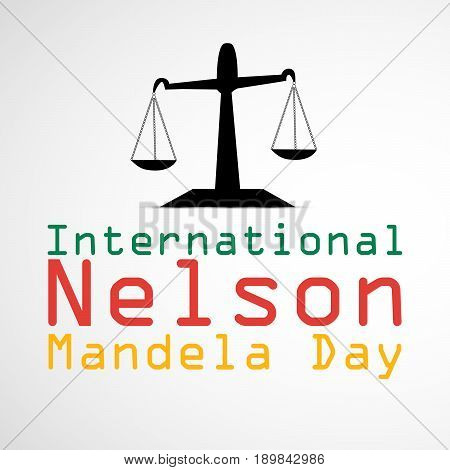 illustration of Balance with International Nelson Mandela Day Text
