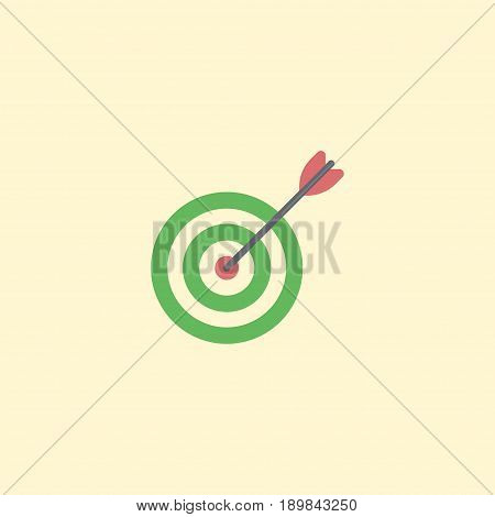 Flat Target Element. Vector Illustration Of Flat Goal Isolated On Clean Background. Can Be Used As Target, Goal And Aim Symbols.