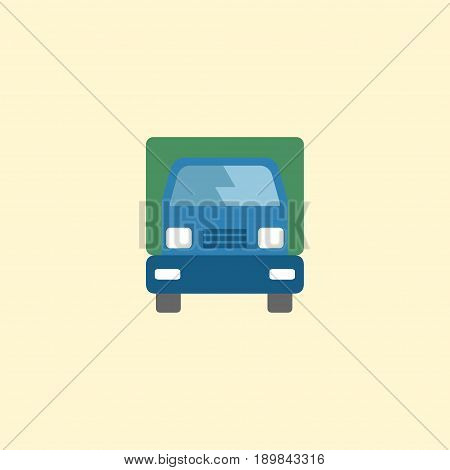 Flat Lorry Element. Vector Illustration Of Flat Truck Isolated On Clean Background. Can Be Used As Truck, Lorry And Freight Symbols.