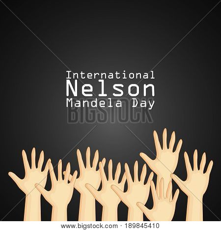 illustration of hands with International Nelson Mandela Day text