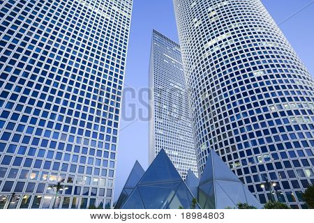 Skyscrapers, Tel-Aviv, Israel,
