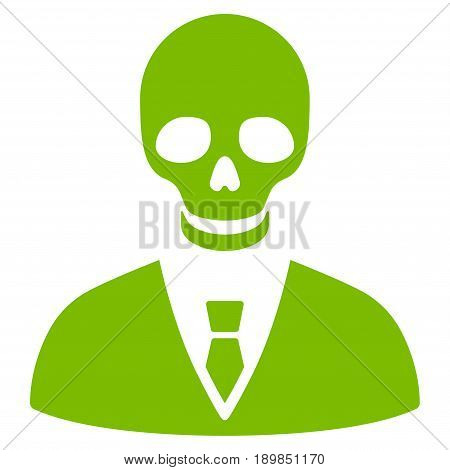 Eco Green Deadly Manager interface toolbar pictogram. Vector pictogram style is a flat symbol on diagonal hatch transparent background.
