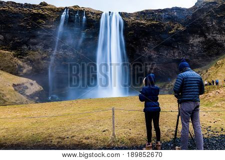 Seljalandsfoss Is One Of The Most Beautiful Waterfalls On The Iceland