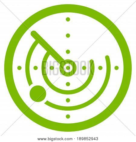 Eco Green Radar interface icon. Vector pictograph style is a flat symbol on diagonal hatch transparent background.