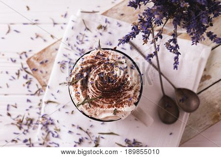 Two Cups Of Hot Chocolate With Whipped Cream