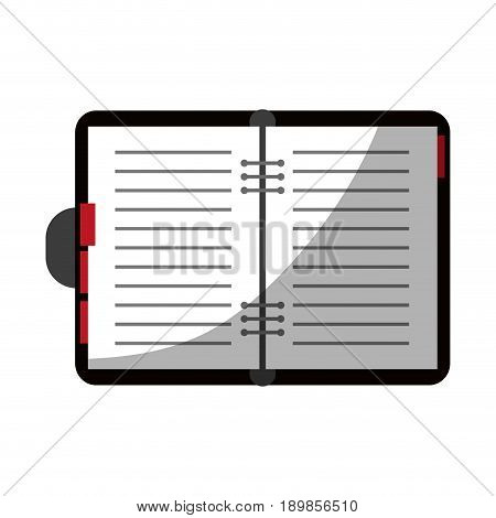 open notebook with page markers  icon image vector illustration design