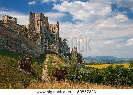Medieval castle Beckov in central Europe Slovakia