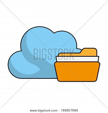 Find archiving cloud icon illustration vector design graphic