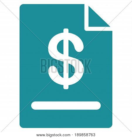 Soft Blue Invoice interface toolbar pictogram. Vector pictogram style is a flat symbol on diagonal hatch transparent background.