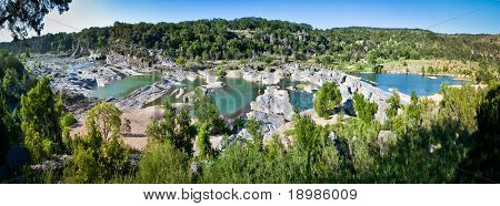 Panoramic View of Pedernales River Falls in Pedernales Falls State Park