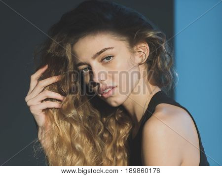Girl With Natural Blond, Long, Wavy, Healthy Hair
