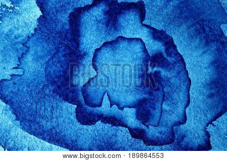 Hand paint blue abstract background