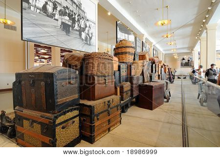 Ellis Island Immigrant Luggage