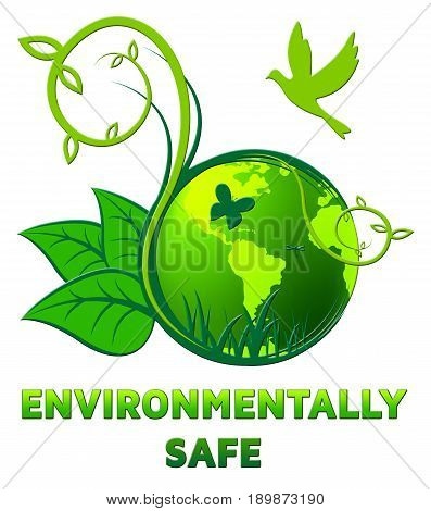 Environmentally Safe Shows Eco Friendly 3D Illustration