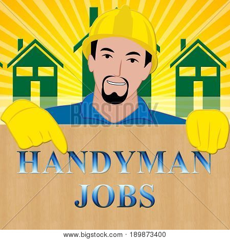 Handyman Jobs Showing House Repair 3D Illustration
