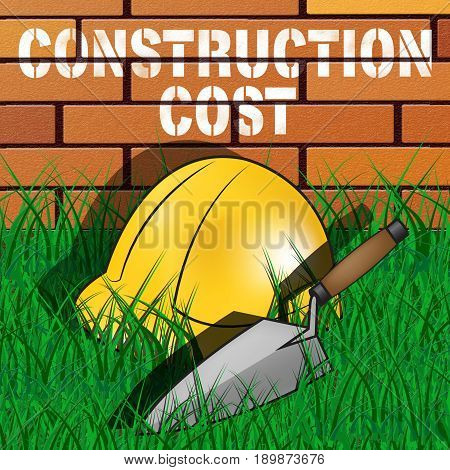 Construction Cost Means Building Costs 3D Illustration