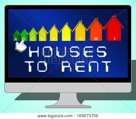 Houses To Rent Representing Real Estate 3D Illustration