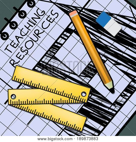 Teaching Resources Shows Classroom Materials 3D Illustration