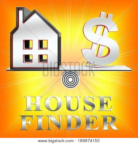 House Finder Means Home Finders 3D Rendering