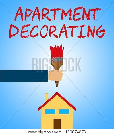 Apartment Decorating Meaning Condo Decoration 3D Illustration