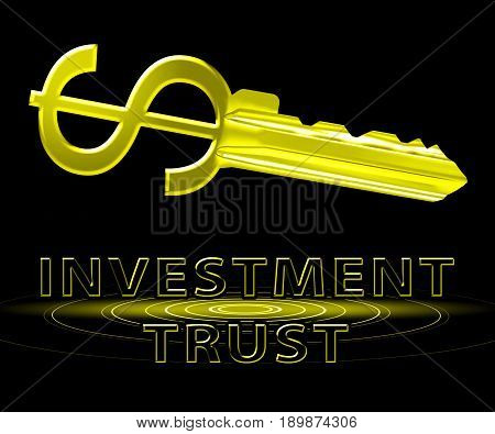 Investment Trust Means Investing Fund 3D Illustration