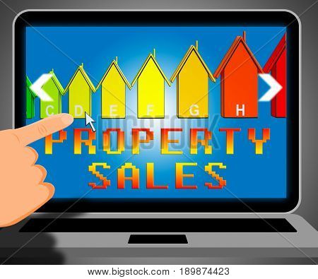 Property Sales Representing House Selling 3D Illustration