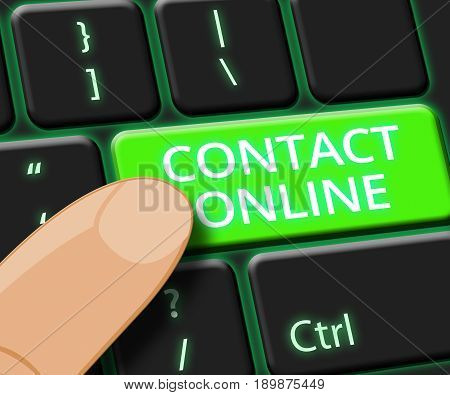 Contact Online Means Customer Service 3D Illustration