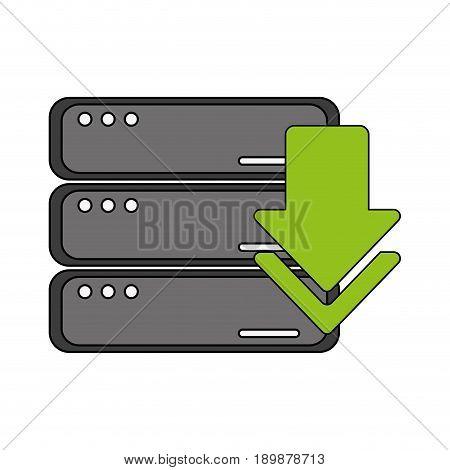 arrow data base icon vector illustration design graphic
